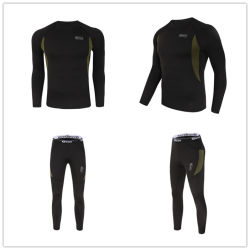 Black Outdoor Sports Underwear Tactical Thermal Fleece Warm Clothing