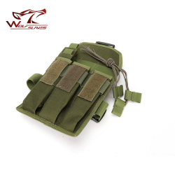 Tactical Airsoft MP7 Leg Triple Magazine Pouch Outdoor Riding Leg Bag Hunting Assault Pack