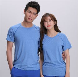 Wholesale Custom Blank Plain Men Gym Fitness Sport Cheap Running Dry Fit Cotton Round Neck Cheap T Shirt