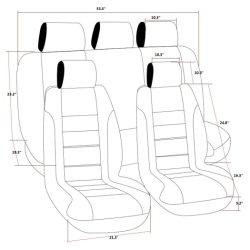 Bohemia Car Seat Cover 5 Seats