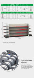 Amercian Style Bolt Free Design Luxurious Medium Consolidated 4 Floor Shelf