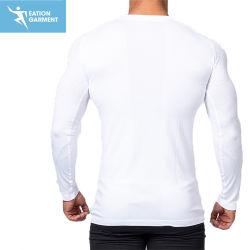 Flatlock Seam Long Sleeve Sport T-Shirts Moisture Wicking Fitness Apparel