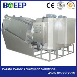 Screw Sludge Dewatering Machine, Multi-Disk Screw Machine for Dye Wastewater