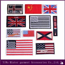 Flag Embroidered Skull Sew Iron on Patches Badge Fabric Bag for Clothes Applique Transfer DIY