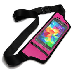 Outdoor Sports Lycra Waist Pack Running Belt with Touchable Screen Waterproof Mobile Phone Pouch Holder Bag
