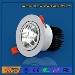 Circular White High Power LED Spotlight for Indoor