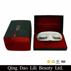 Artificial Empty Make False Lashes Packaging Compact Custom Velvet Eyelash Box