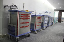 Factory Wholesale Central Locking Medical ABS Anesthesia Trolley (AG-AT007B3)