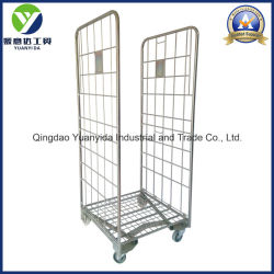 2-Sides Nestable Base Frame Roll Pallet Storage Packing Trolley