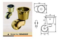 Copper Castor Wheel Castor for Sofa or for Bed 18040006