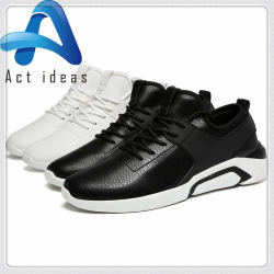 Fashion Leather Men Casual Sport Walking Shoes for Wholesale