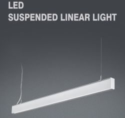 Premium LED Ceiling Lamp Pendant LED Linear Light Hanging up and Down Lighting Indoor Modern Aluminum Suspended for Office School Shopping Mall