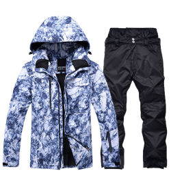 2b541019fc48 Custom Men Camo All Over Printing Winter Outdoor Softshell Waterproof  Outfit Snow/Ski Suit