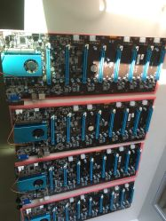 Skylake 3855u 8GPU Operation Motherboard 8 PCI-E Slot Support 8 Graphics Card 6 Pin for Btc Mining Eth