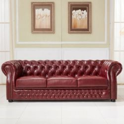 European Style Chesterfield Leather Sofa
