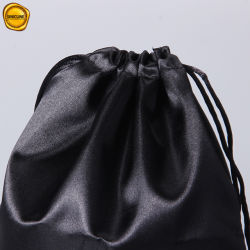 Sinicline Recycled Customized Printing Satin Drawstring Bag for Garment