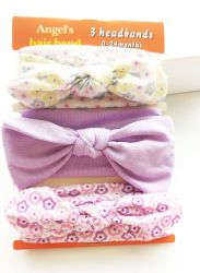 2017 Wholesale Ribbon Bowknot Head Band Cotton Hairband Fashion Baby Hair Accessories