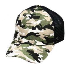 Wholesale Printed Blue Camo Mesh Hat Plain Blank Trucker Hat
