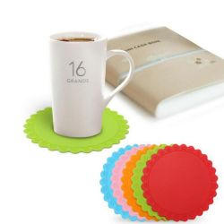 Round Non-Slip Table Heat Resistant Pad Rose Silicone Coasters