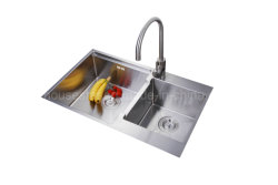 Double Bowl Stainless Steel Handmade Kitchen Sink (SY7747Z)