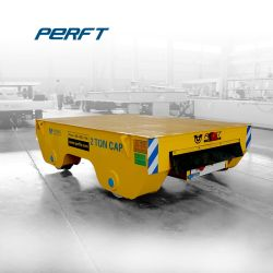 Electric Rail Flat Motorized Transfer Car Used in Warehouse