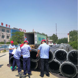Plastic Pipeline Flange Connection Mining Use UHMWPE Pipe