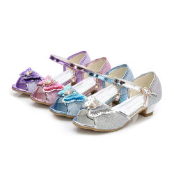 719b8318a Kids Baby Girl Rhinestone Princess Sandals Party Dress Dance Shoes