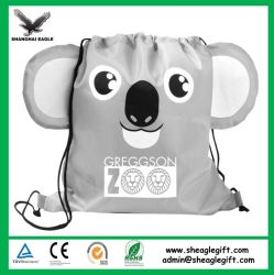 Eco Friendly Non Woven Drawstring Bag with Front Zipper Sports Drawstring Bag