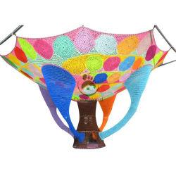 Indoor Rainbow Climbing Rope Net Play Hand Indoor Playground Crocheted Climbing Net