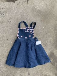 Wholesale Cute Hello Kitty Girls Denim Dress Fashion Children Clothing 53ad0e66ae12d