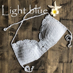 Women Crochet Halter Bohemia Camisole Bikini Bathing Suit Swimwear Beachwear Top