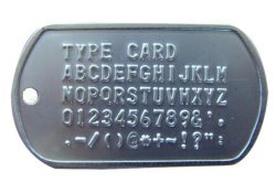 Military Stainless Steel Dogtag Embosser/Metal Plate Embossing Machine Supplied by Manufacturer