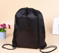 Fashion Polyester Cheap Backpack Promotional Sport Drawstring Bag