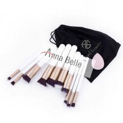 Professional Makeup Brushes Kit Eyebrow Blush Eyeshadow Lip Eyeliner Brush Cosmetic Set with Pouch Case