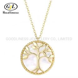 CS-DB Pendants Round Pearl Elegant Silver Necklaces
