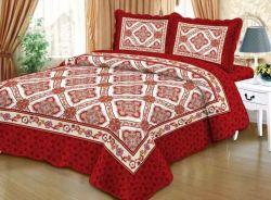 Microfiber Fabric Polyester Filling Quilted Coverlete Comforter Quilt Set
