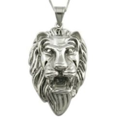 Fashion Jewelry Stainless Steel Lion Pendant Christmas Gift