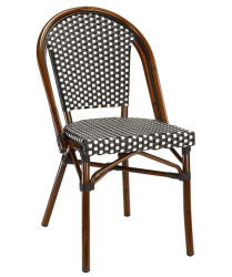 Superbe Bamboo Looking Outdoor Aluminum Rattan French Bistro Chair (BC 08029)