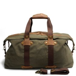 Fashion Design Canvas Leather Sport Handbag Gym Travel Bag (RS -9135)