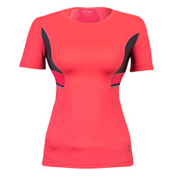 Hi-Viz Decor Breathable Mesh Fabric Yoga Sports Women T Shirts