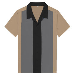 Wholesale Men's Fashion Solid Three Color Combine Short Sleeve Shirts
