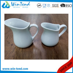 Wholesale White Porcelain Buffet Milk Pitcher Jug