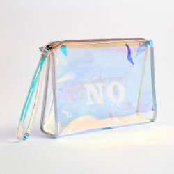 Customized Transparent Waterproof Clear Plastic Travel PVC Makeup Purse  Cosmetic Bag ... 5252103211878