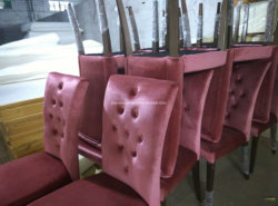 Good Quality Pink Flannelette Hotel Room Dining Chair (JY-F15)