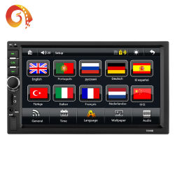 Factory Supply Touch Screen Double 2 DIN MP5 Video Player Universal 7 Inch Auto WiFi Multimedia Stereo Audio Radio System Car DVD