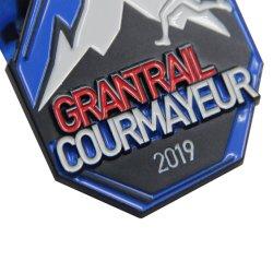 Soft Enamel Running Medal with Ribbon