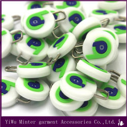 Custom Brand Logo Different Shape Silicone Zipper Pull Soft Rubber PVC Zipper Slider