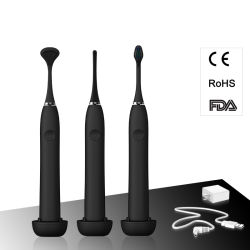 Wy869-H Multi-Fuction Rechargeable Sonic Electric Toothbrush+Interdental Brush+Tongue Scraper (RoHS/FDA CE approved)
