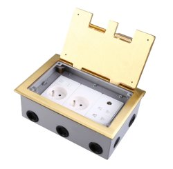 Brass Alloy Material Open Tyep Floor Boxes