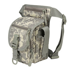 Multi-Functional Tactical Duty Leg Pocket in Acu Digital Camouflage Color by Polyester/ Waist Bag